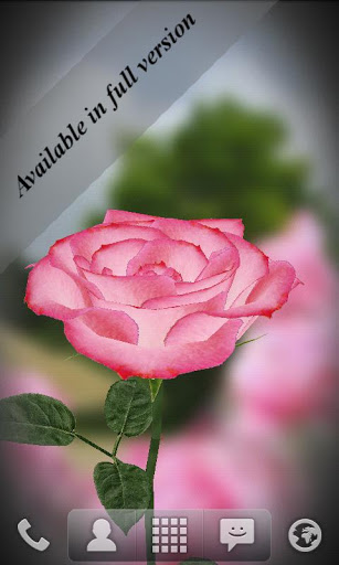 Живые обои Роза 3D / 3D Rose Live Wallpaper Free для Андроид