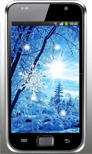 Скачать Зима Снегопад живые обои для Андроид