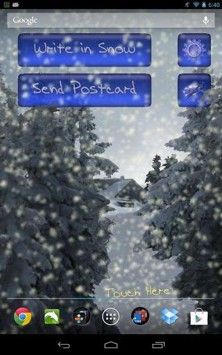 Скачать Зимний Снегопад Live Wallpaper для Андроид