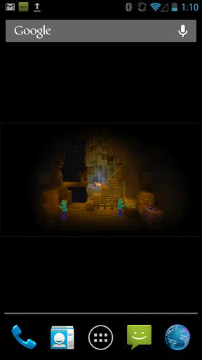 Скачать ZombieMine Minecraft Wallpaper для Андроид